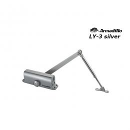 Доводчик Armadillo LY-3 до 65 кг серебро