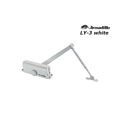 Доводчик дверной Armadillo LY-3 (от 40 до 65 кг) белый