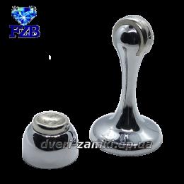 Дверной упор с магнитом FZB 01-04 CP 75 мм