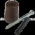 Дверной упор резиновый коричневый D53H60