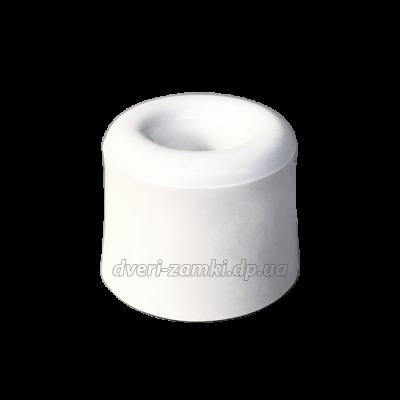 Напольный дверной упор резиновый белый