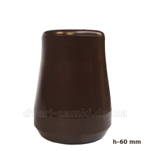 Упор D53H60 резиновый коричневый