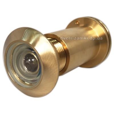 Глазок дверной Handmet D27 65-90 SB матовое золото