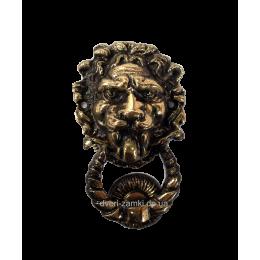 Дверной молоток Лев малый бронза