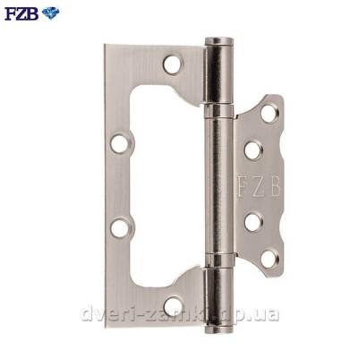 Петля дверная бабочка без врезки FZB 100x75x2.5 мм SN матовый никель