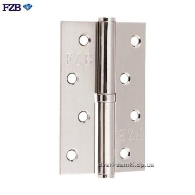 Дверные петли FZB 100x70x2.5 SN матовый никель