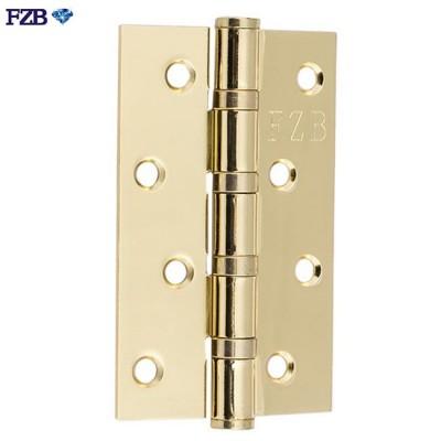 Дверные петли универсальные FZB 125x75x2.5 4BB PB золото