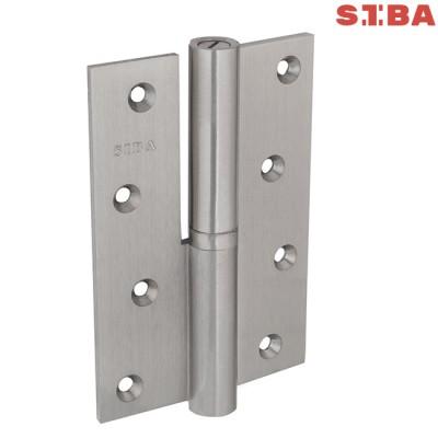 Петли латунные усиленные Siba 1BB 120*80*4 мм SN матовый никель