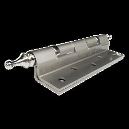 Петли угловые 125 мм матовый никель