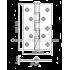Дверные петли универсальные Siba 125 мм 2BB AB бронза. Толщина 3 мм.