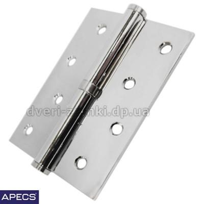 Петли для межкомнатных дверей Apecs (Апекс) 100x75-B-Steel-CR хром