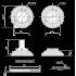 Фиксатор Apecs WC-0803-NIS матовый никель