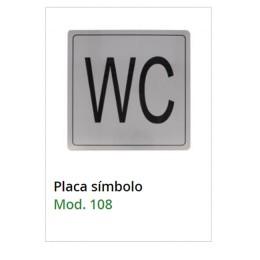 Табличка WC Amig mod.108 inox