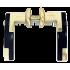 Дверные ручки Apecs H-0596-A-GM/BW (матовое золото/черное дерево)