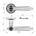 Ручки раздельные Armadillo Matador CL4-AS-9 (Античное серебро)