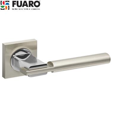 Дверные ручки Fuaro Jazz KM SN/CP-3 матовый никель