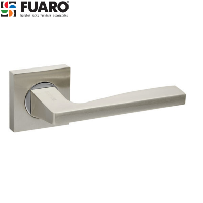 Дверные ручки Fuaro Rock KM SN/CP на квадратном основании KM