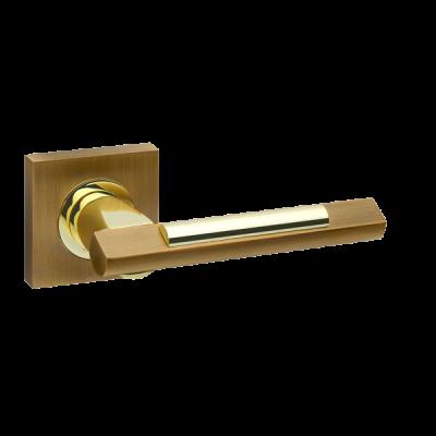 Дверные ручки Fuaro Tango KM AB/GP-7 матовая бронза