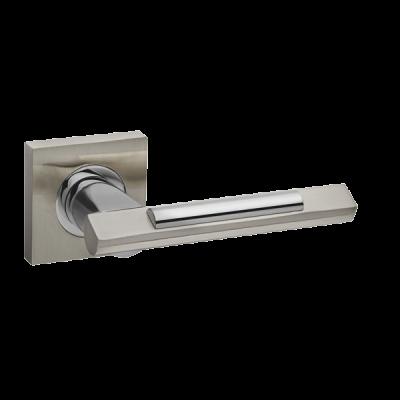 Дверные ручки Fuaro Tango KM SN/CP-3 матовый никель/хром