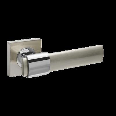 Дверные ручки Fuaro Twist SN/CP-3 матовый никель