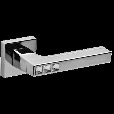 Дверные ручки Fuaro Crystal Flash DM CP-8 хром