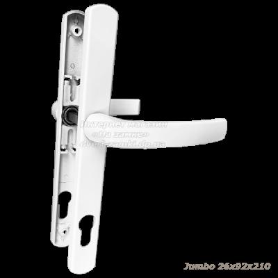 Нажимной гарнитур Jumbo 26x92x210 RAL 9016 (цвет белый)
