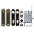 Набор фурнитуры для раздвижных дверей Armadillo SH011-BK AB