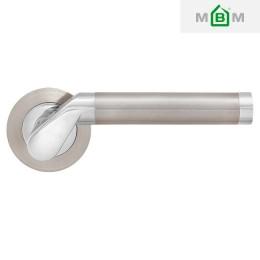 Дверные ручки MVM Tubo S-1103 SN/CP матовый никель/хром