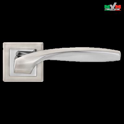 Дверные ручки МВМ на розетке TEZA Z-1325 SN/CP
