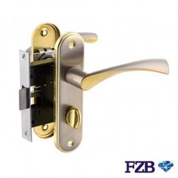 Комплект ручек FZB 15-84 SN/GP (сатин/золото)