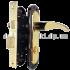 Комплект ручек на планке PUNTO Corona STL KWC 62mm BN/GP черный с золотом