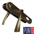 Дверные ручки Punto Corona STL Yale 85 mm AN античная бронза