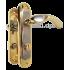 Комплект ручек на планке PUNTO Kumru STL KWC 62mm SN/GP сатин-золото