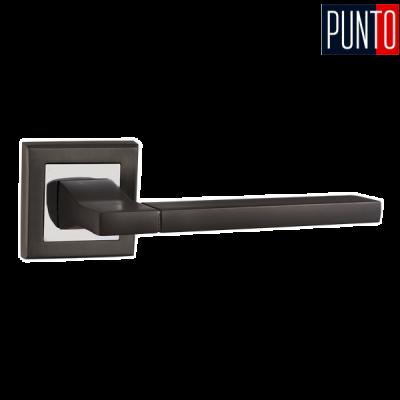 Дверные ручки раздельные Punto Tech QL GR/CP-23 графит /хром