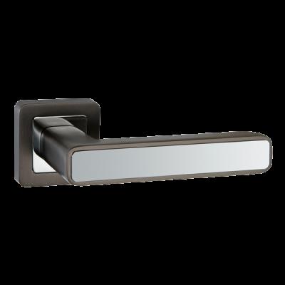 Дверные ручки Punto Mars QR GR/CP-23 графит/хром