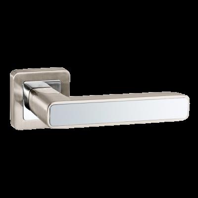 Дверные ручки Punto Mars QR SN/CP-3 матовый никель