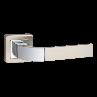 Дверные ручки Punto Orion QR SN/CP-3 матовый никель