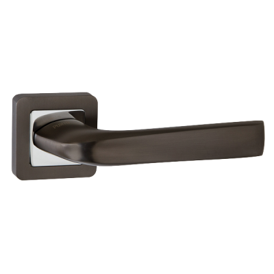 Дверные ручки Punto Saturn QR GR/CP-23 графит/никель