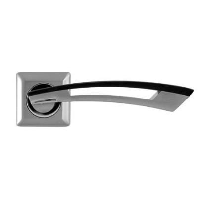 Дверные ручки Apecs H-0599-Z S/BW (сатин/черное дерево)