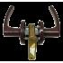 Дверные ручки Jania с защелкой коричневые