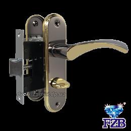 Комплект ручек FZB 15-84 BN/GP (черный с золотом)