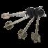 Врезной сувальдный замок 50.01 длинный ключ