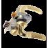 Замок Kale 152 3MR ручками Apecs Standart H-0826-A-GM матовое золото