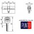 Цилиндровый механизм Punto A200 80 мм (35x10x35) SN
