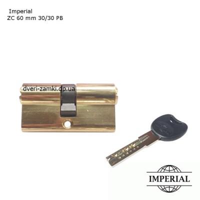 Цилиндр Imperial Zamak 60 мм ключ/ключ золото