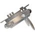 Замок Siba 10152/3MR 45 мм с ручкой Viola матовый никель