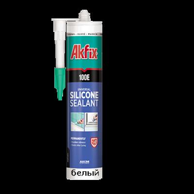 Универсальный силиконовый герметик Akfix 100E белый