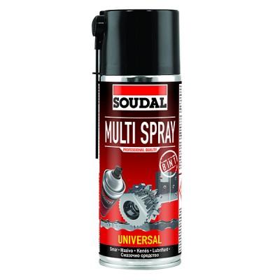 Смазочно-защитный аэрозоль Soudal Multi Spray 8 in 1. Объем 400 мл.