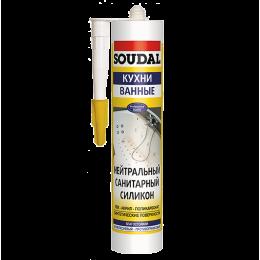 Нейтральный санитарный силикон Soudal белый