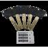 Цилиндровый механизм Шерлок HK 100 40x60 SN матовый никель